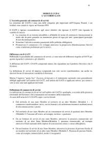 International trade law modulo 3 ud4 L'accordo GATS