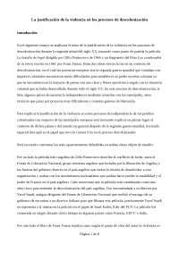 La justificación de la violencia en los procesos de descolización (ensayo seminario 3)