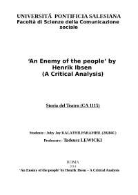 An enemy of the people analysis