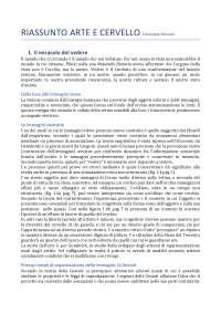 Riassunto del testo: Arte e Cervello - Maffei Fiorentini II ed