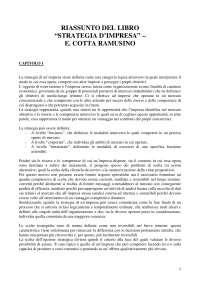 Strategia d'Impresa - COTTA RAMUSINO ONETTI - Riassunto