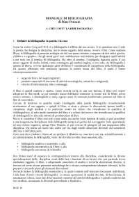 Manuale di Bibliografia di Rino Pensato