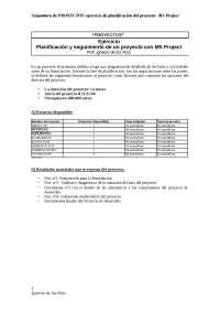 Ms project ejercicio planificación y seguimiento de un proyecto con ms project