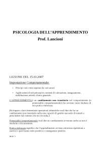 Appunti Psicologia Dell'Apprendimento