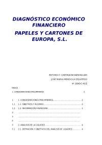 ANALISIS FINANCIERO DE EUROPAC