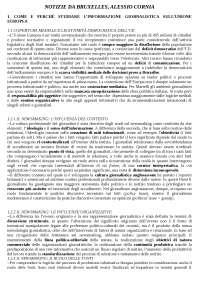 Riassunto Notizie da Bruxelles - Cornia