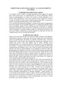 Riassunto I diritti nella rete della rete - Il caso del diritto all'oblio - Pizzetti