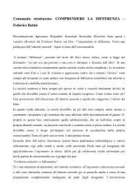 Commento Comprendere la differenza - Federico Batini