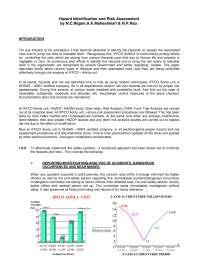 Hazard identification and risk assessment in steam turbines