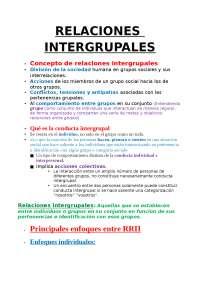 Relaciones Intergrupales Apuntes De Psicología Social Docsity