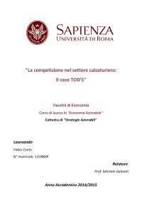 Tesi di laurea - La competizione nel settore calzaturiero: il caso TOD'S