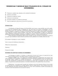 Enfermería UPF: Tendencias y modelos en cuidados