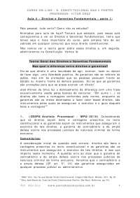 3.1 direitos e garantias fundamentais parte i