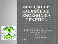 Seleção de embriões e engenharia genética