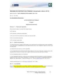 Ley 20744 régimen de contrato de trabajo