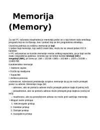Memorija računara