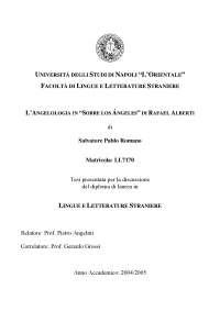 Tesi di laurea, L'angelologia in Sobre los ángeles di Rafael Alberti
