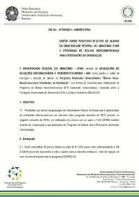 Edital Ibero-Americana 2015 (UFAM)