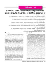 Modelo computacional para circuito de ventilação