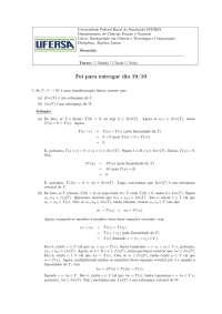 Álgebra transformações lineares exercícios resolvidos