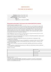 Questionário AULA 8 E RESPOSTAS DPP, Exercícios de Engenharia Agronômica