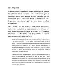 Trabajo botanica guarana