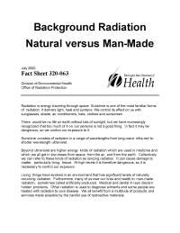 natural and man-made radiation