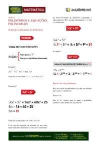 Apostila polinomios i (1)