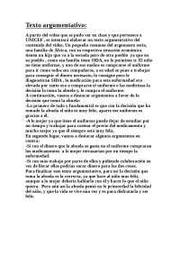 Texto Argumentativo Apuntes De Biología Docsity