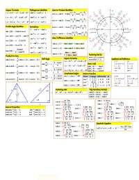 Trig cheat sheet v2