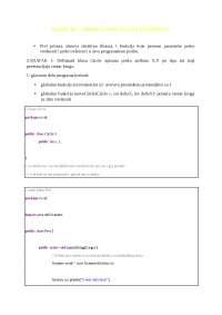 Vezbe 01 obnavljanje klasa i funkcija
