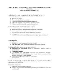8 Metodología de trabajo de la enfermera de AP