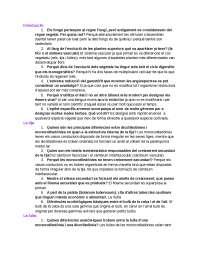 Preguntes morfologia Botànica 1r GEAA
