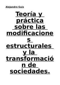 TEORIA Y PRACTICA DE LAS TRANSFORMACIONES EN LA SOCIEDADES
