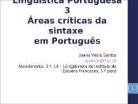 Linguistica portuguesa Sintaxis.