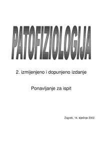 Patofiziologija skripta (hr) 2