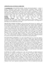 Antropologia culturale. Fabio Dei