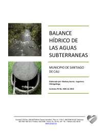 Balance hídrico aguas subterráneas