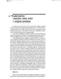 Izmenjena stanja svesti i religijsko ponasanje, Ispiti' predlog Antropologija religije