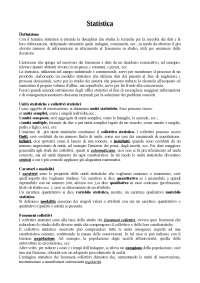 Riassunto Lezioni di statistica - G. Girone T. Salvemini