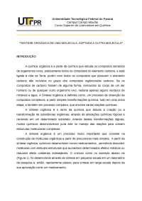 SINTESE ORGÂNICA DE UMA MOLECULA, ADPTADA A OUTRA MOLECULA