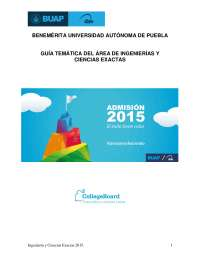 Guía BUAP 2015 área de ciencias exactas e ingeniería