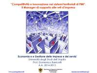Competitivita' e innovazione sistemi pmi