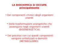 Introduzione alla biochimica
