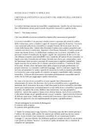 Appunti Metodologia delle scienze sociali, Ceravolo unipv