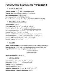 Formulario Sistemi di produzione