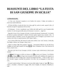 Riassunti la festa di San Giuseppe in Sicilia