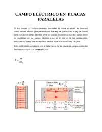 Campo elÉctrico en placas paralelas
