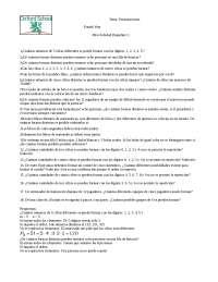 Permutaciones, Ejercicios de Estadística Matemática