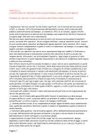 Linee guida e procedure di servizio sociale.
